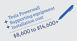How much does a tesla powerwall cost