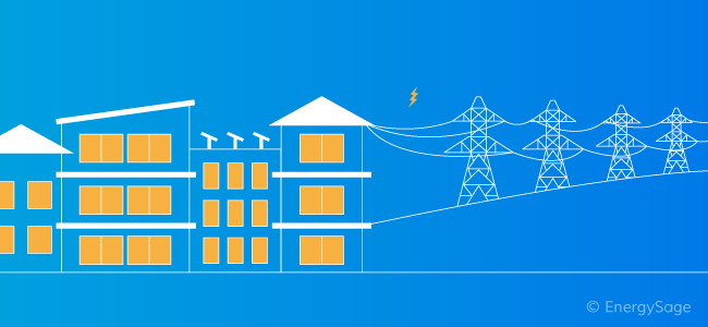 electrical grid and buildings