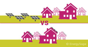rooftop panels vs solar farm