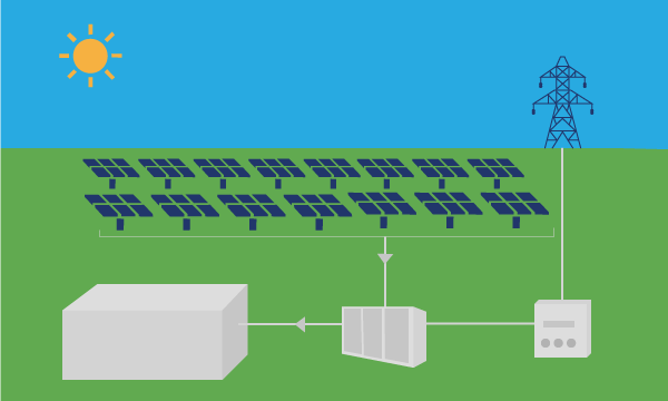 solar panel farm during the day time