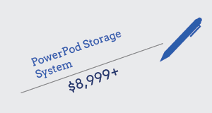 cost of a powerpod battery with pen